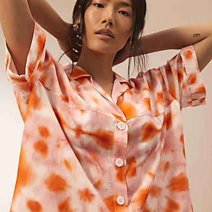 Pink RI Studio tie dye oversized shirt