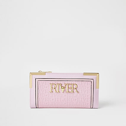 Pink river embossed purse
