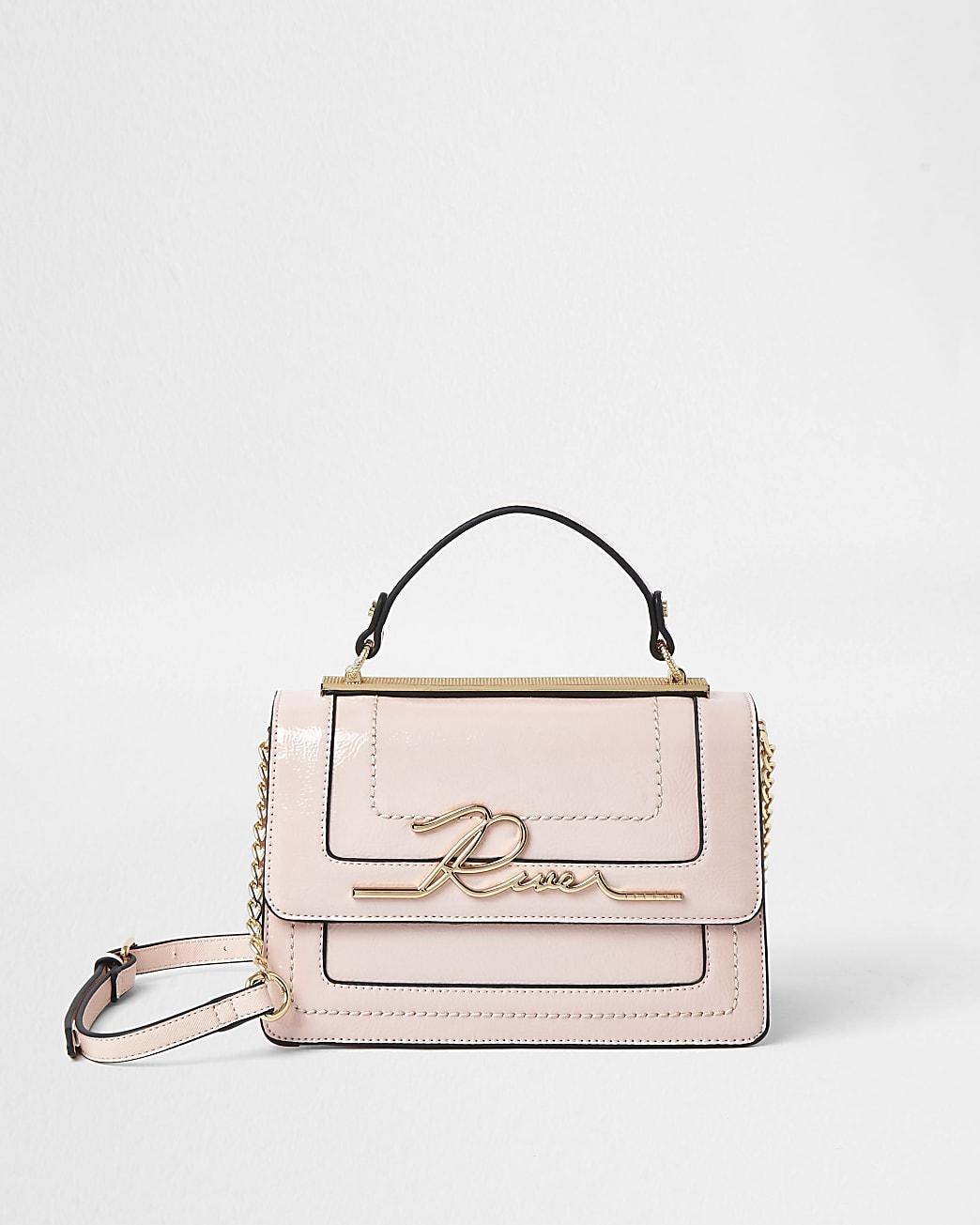 Pink 'River' large satchel bag