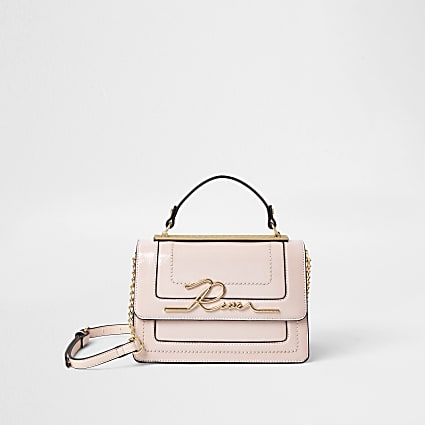 Pink 'River' large satchel bag