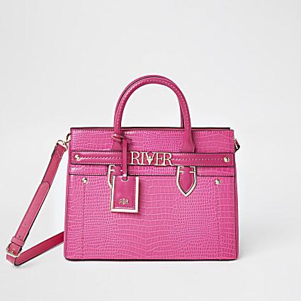 Pink 'River' tote handbag