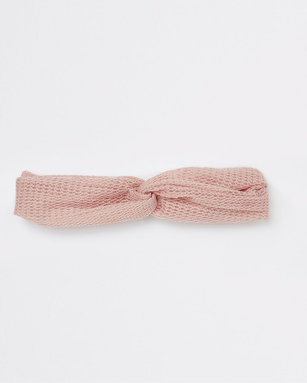 Pink ruched knot detail headband