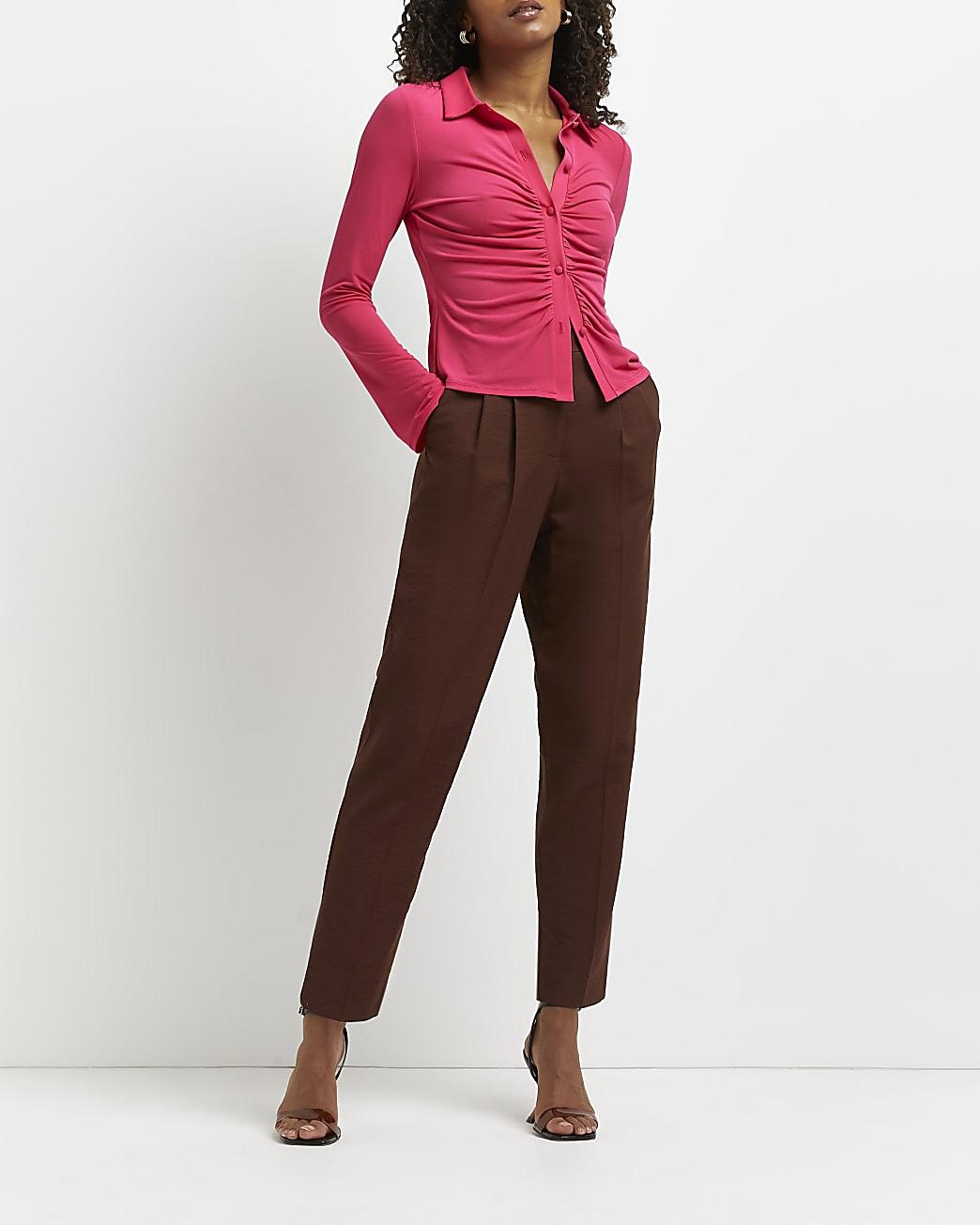 Pink ruched shirt
