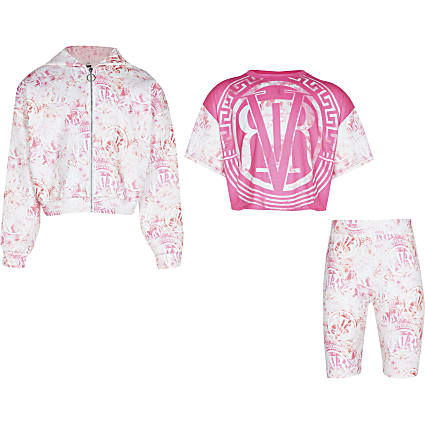 Pink 'RVR' 3 piece scuba outfit