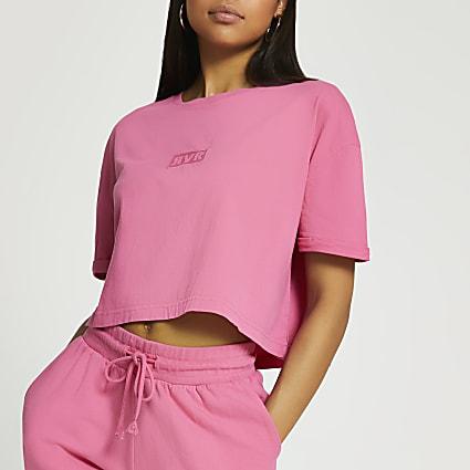 Pink RVR crop t-shirt