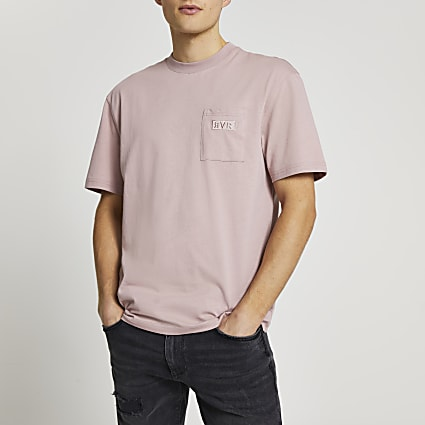 Pink RVR pocket t-shirt