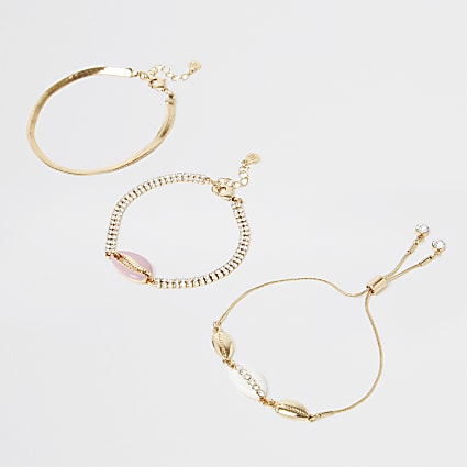 Pink shell anklet pack