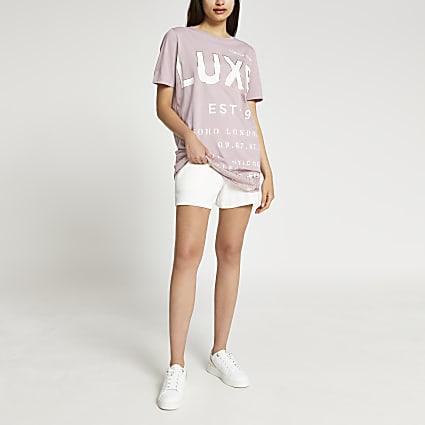 Pink short sleeve luxe oversized t-shirt