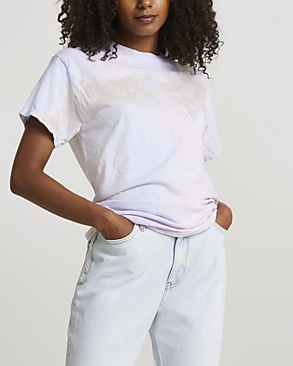 Pink short sleeve tie dye t-shirt