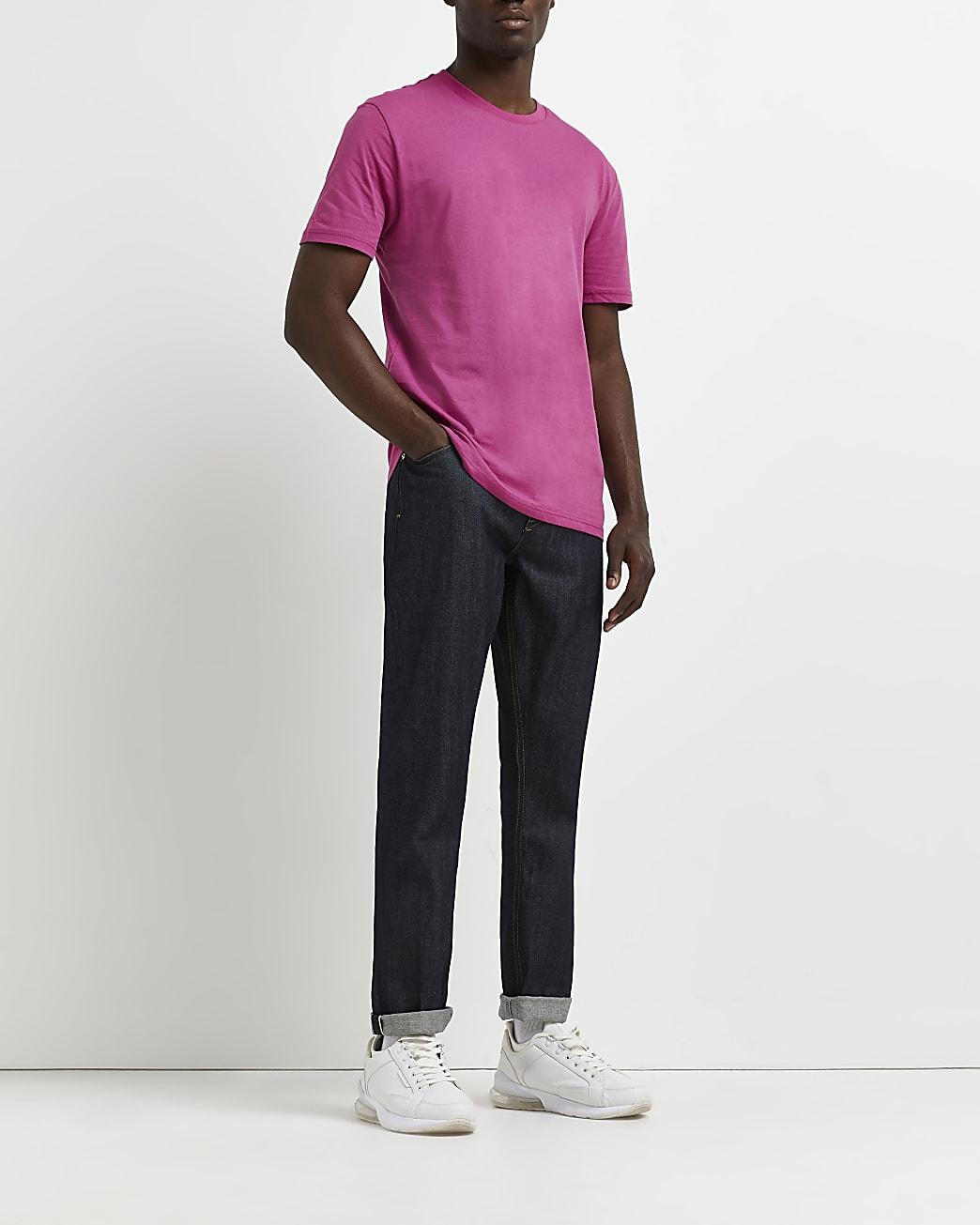 Pink slim fit t-shirt