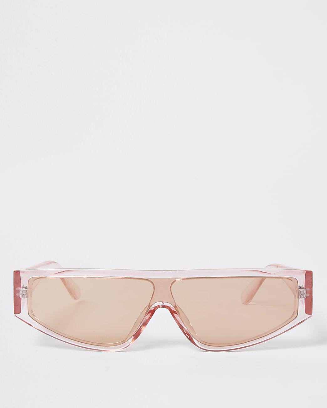 Pink slim frame sunglasses