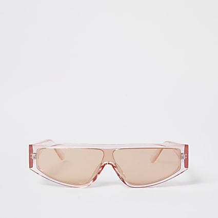 Pink slim frame sunglasses