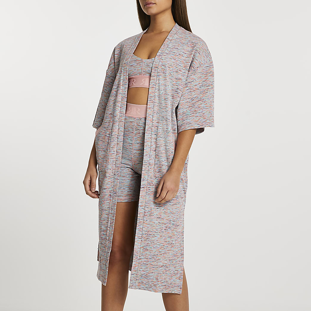 Pink space dye Intimates cardigan