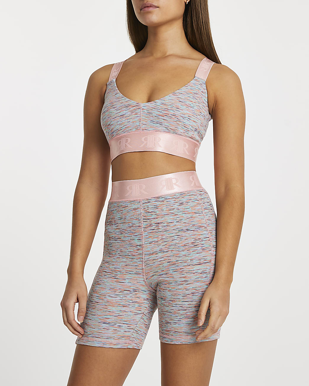 Pink space dye Intimates cycling shorts