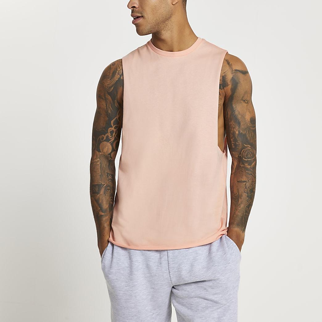 Pink tank vest