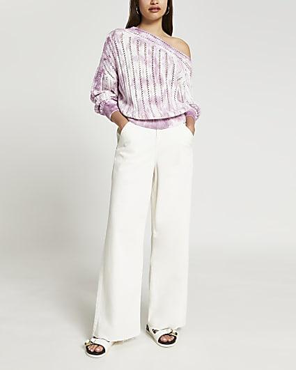 Pink tie dye crochet top