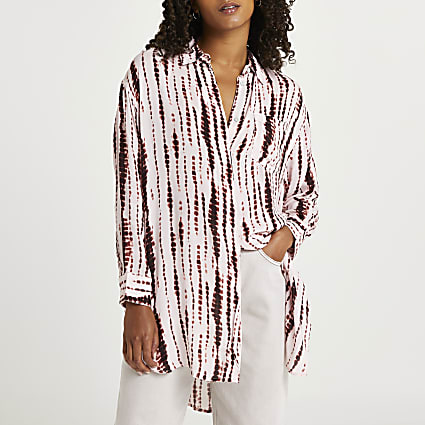 Pink tie dye long sleeve shirt