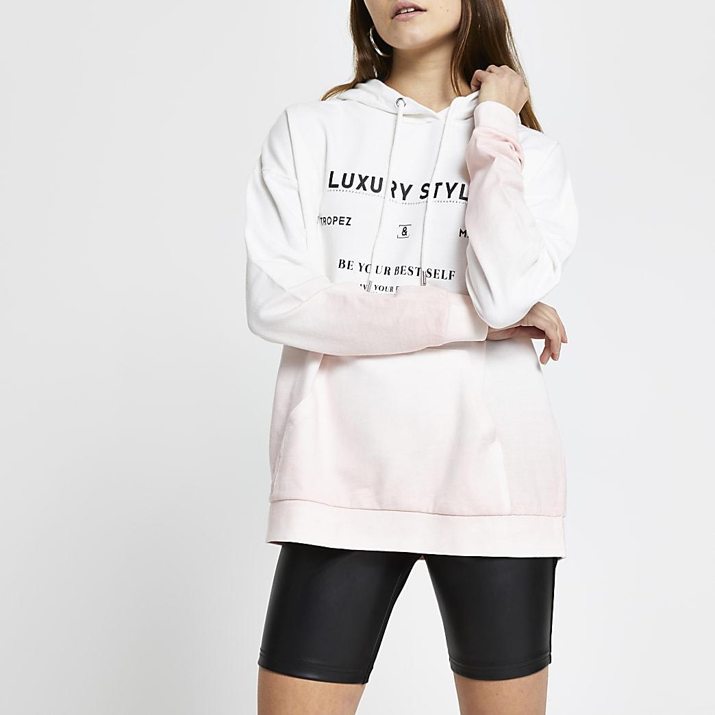 Pink tie dye 'Luxury Style' hoodie