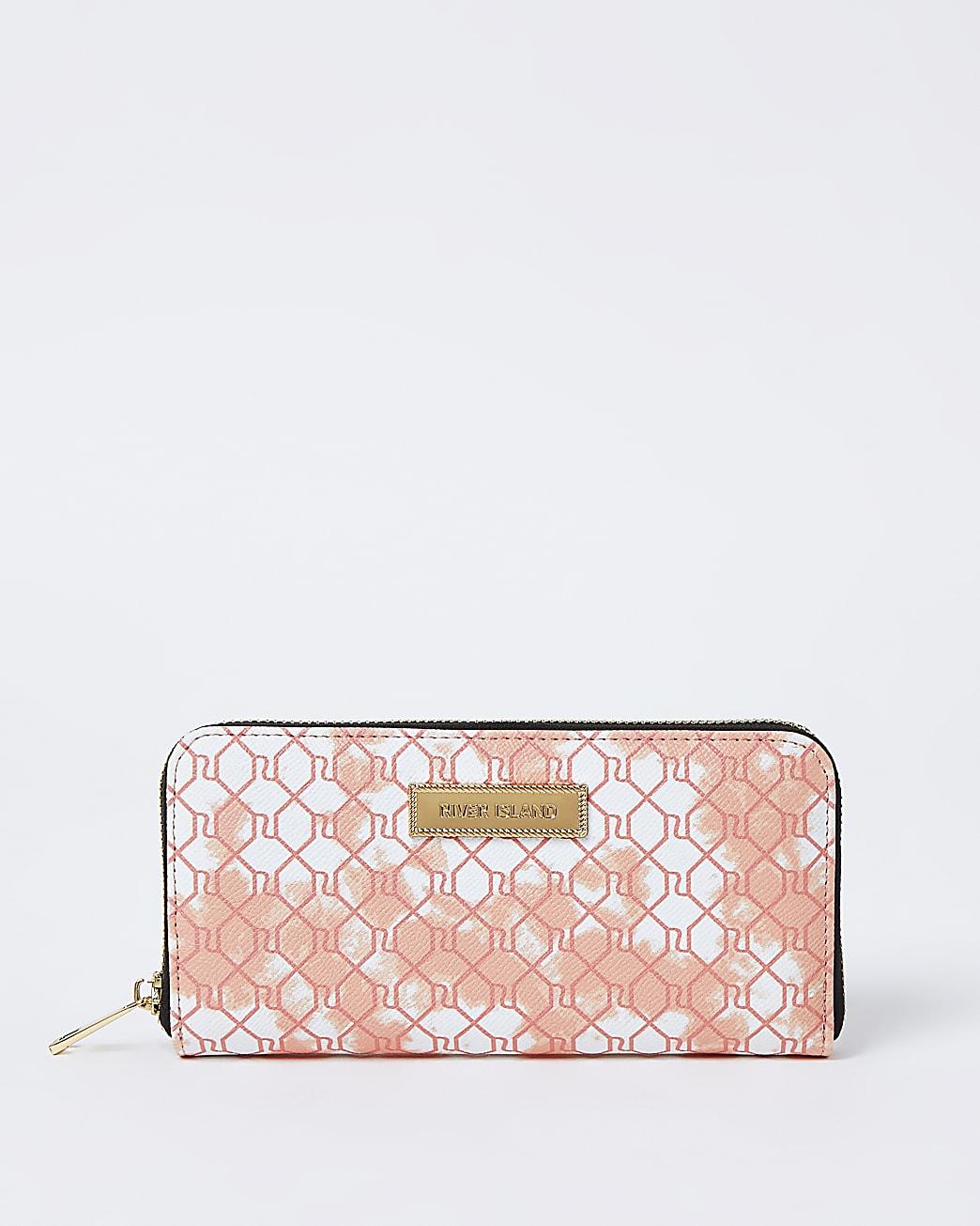 Pink tie dye RI monogram purse