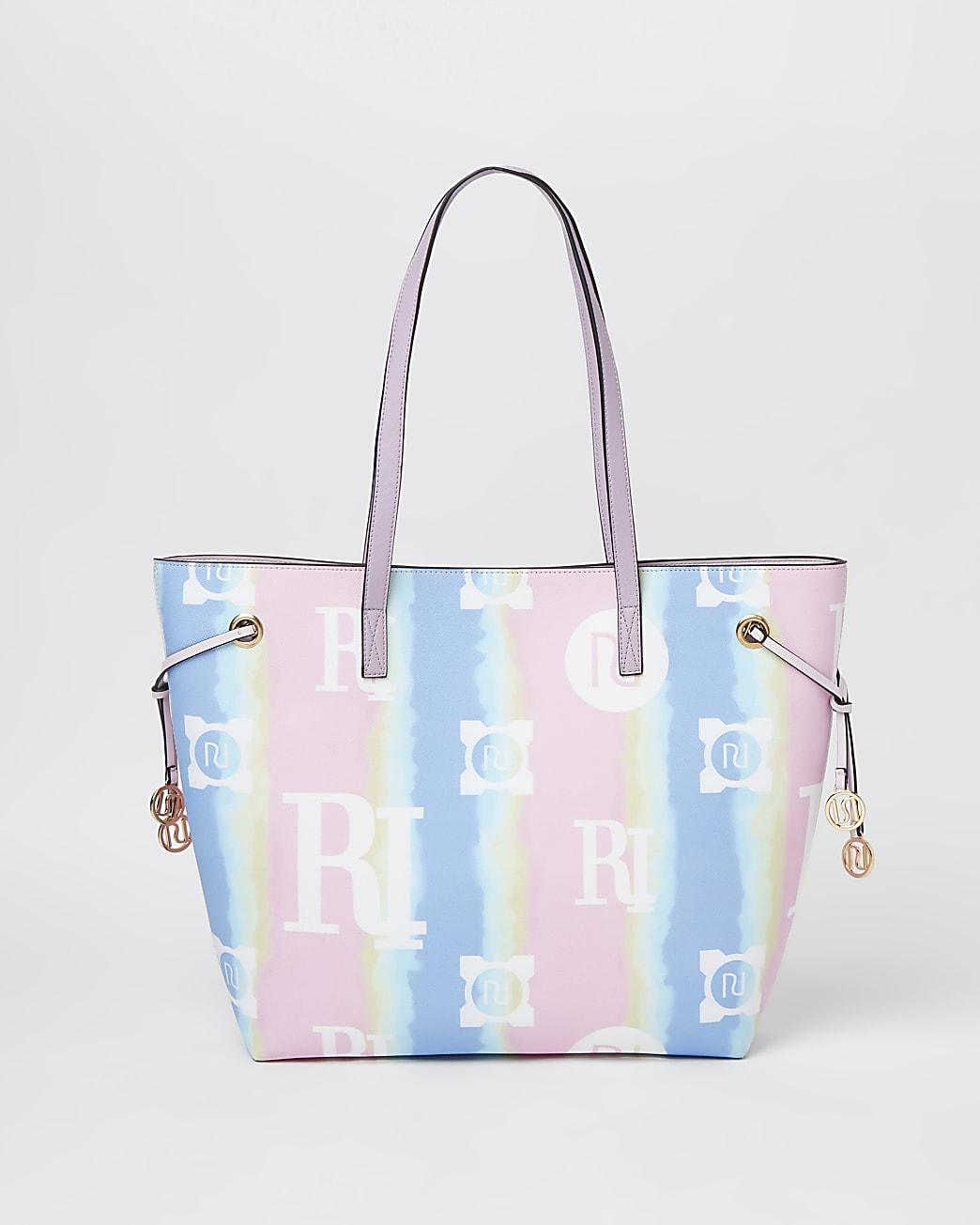 Pink tie dye shopper bag