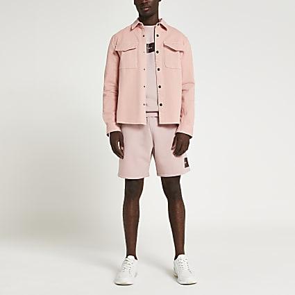 Pink Tokyo print shorts