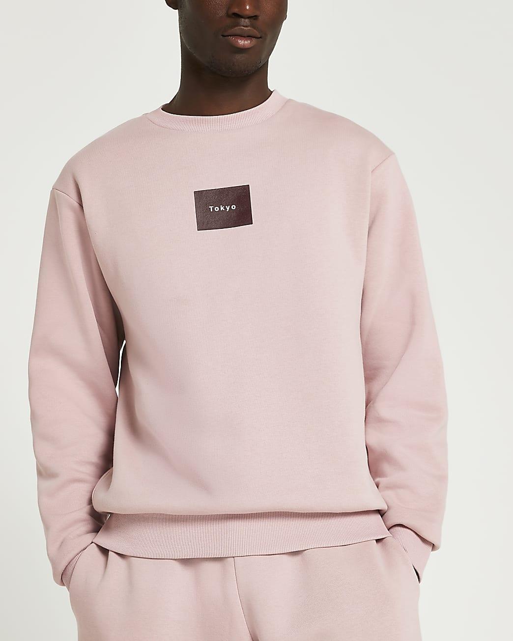 Pink Tokyo print sweatshirt