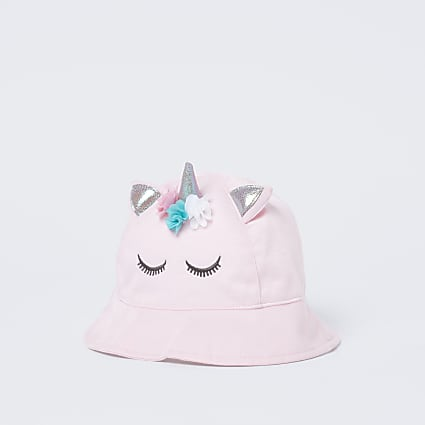 Pink unicorn bucket hat