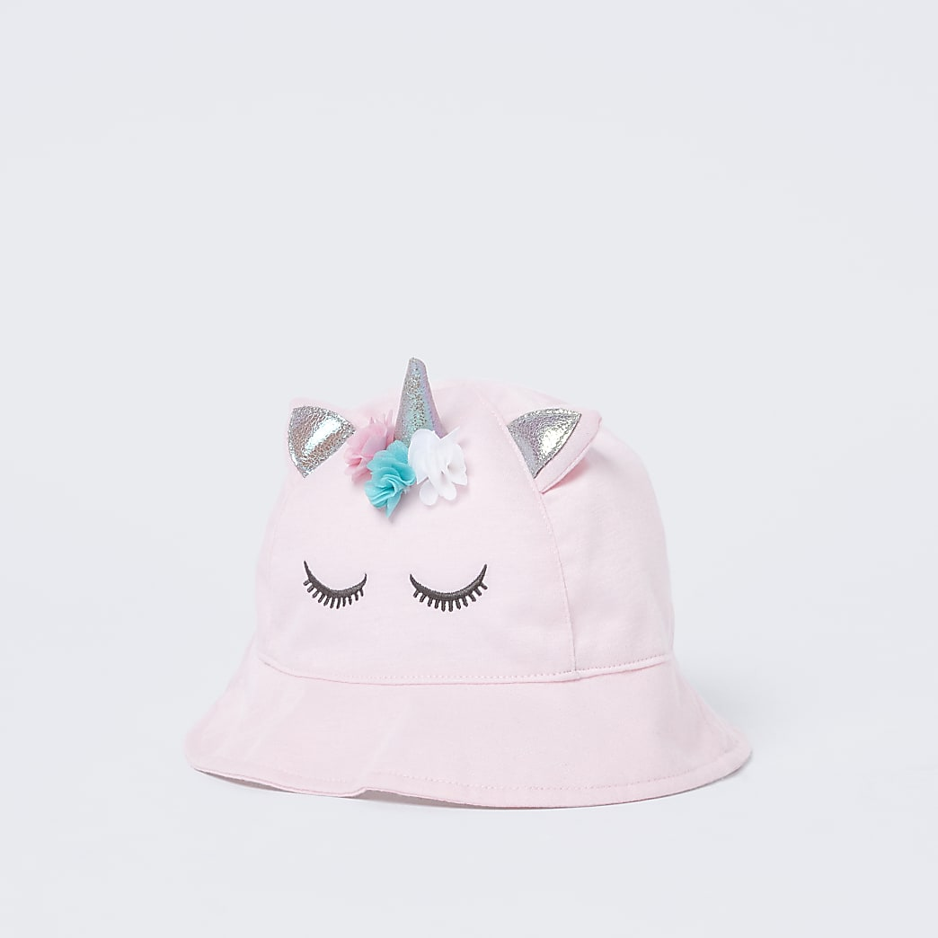Pink unicorn bucket hat