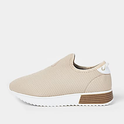 Pink wide fit 'River' runner trainers