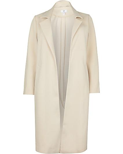 Plus beige longline coat