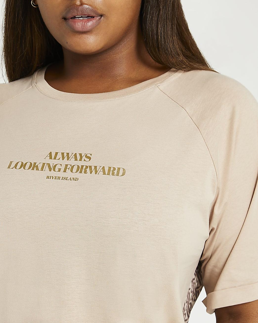 Plus beige RI branded t-shirt