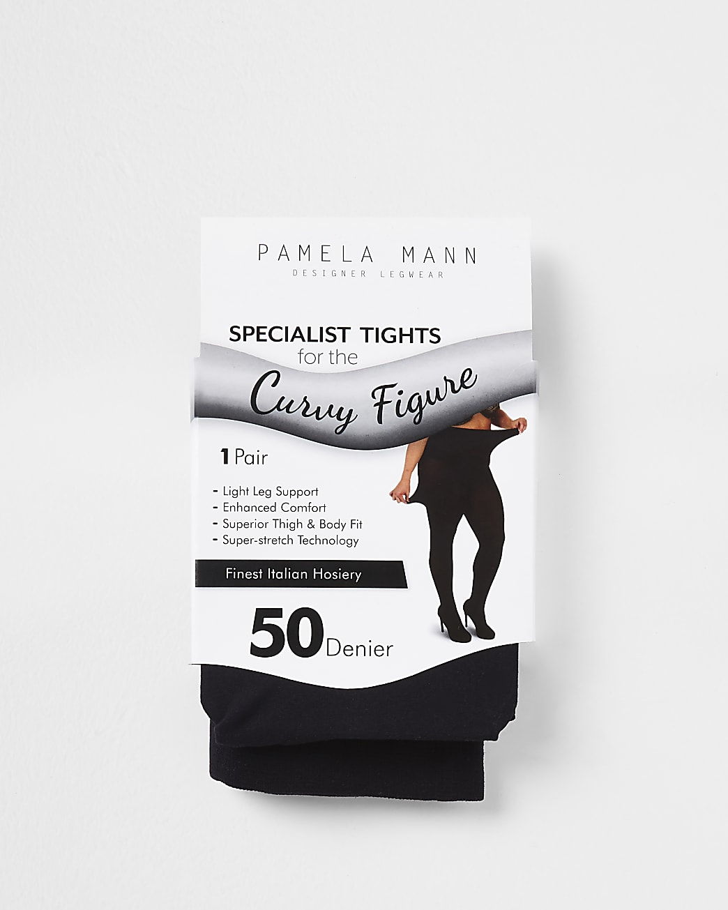 Plus black 50 denier plus size tights