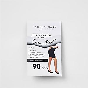 Plus black 90 denier anti chafing shorts