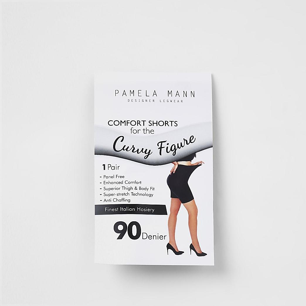 Plus – Schwarze Shorts, 90 Denier