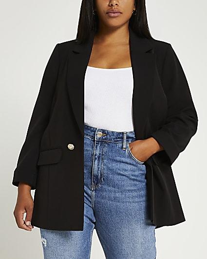 Plus black blazer