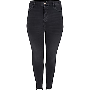 Plus black Hailey high rise jean