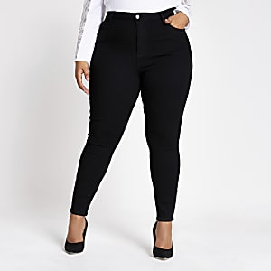 Plus black Hailey high rise skinny jeans