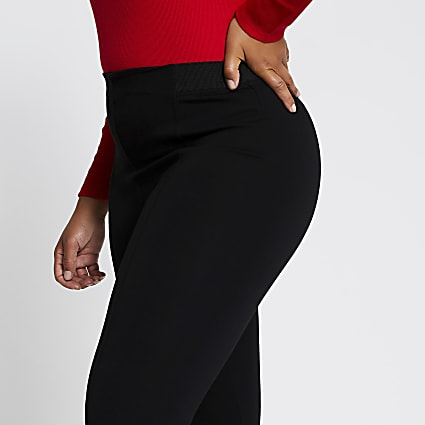 Plus black high waist leggings