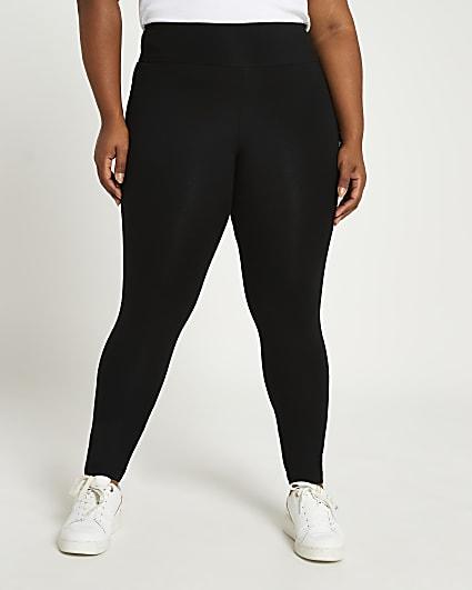 Plus black high waisted bum sculpt leggings