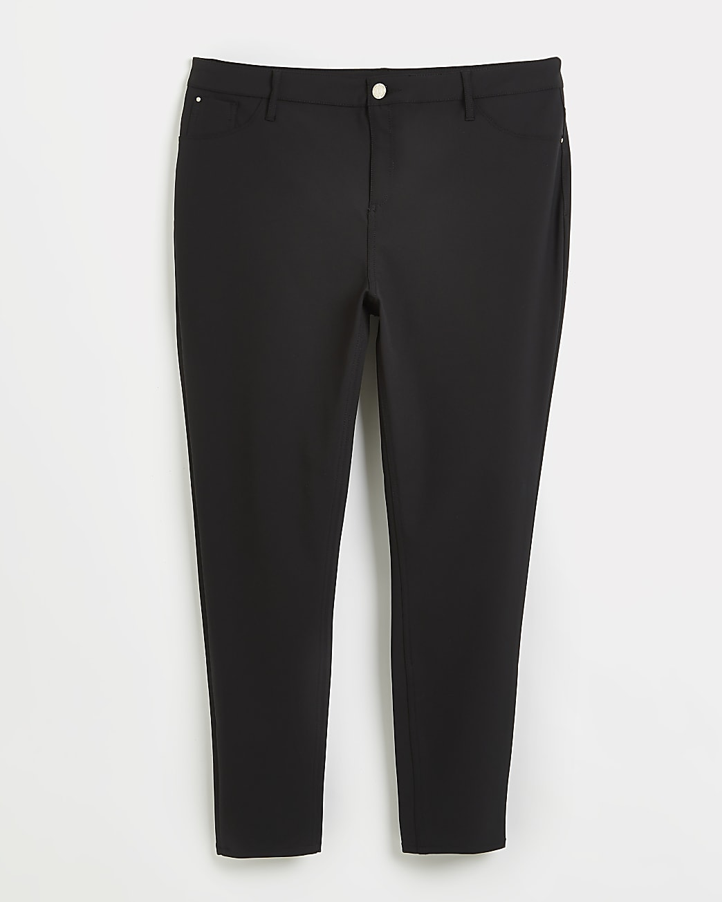 Plus black Molly high waisted trousers