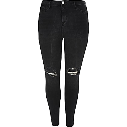 Plus black Molly mid rise jegging