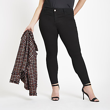 Plus black Molly mid rise jeggings