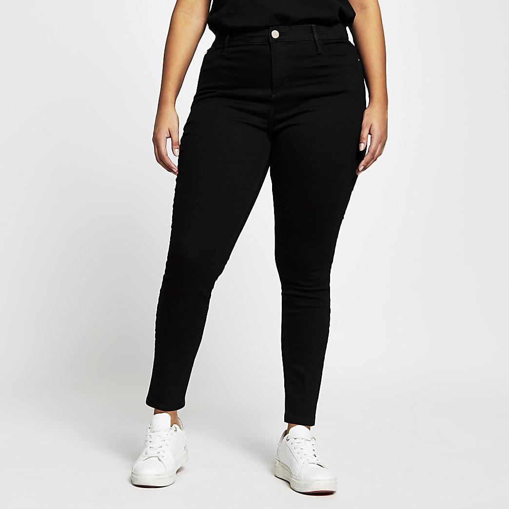 Plus Black Molly Mid Rise Skinny Jean