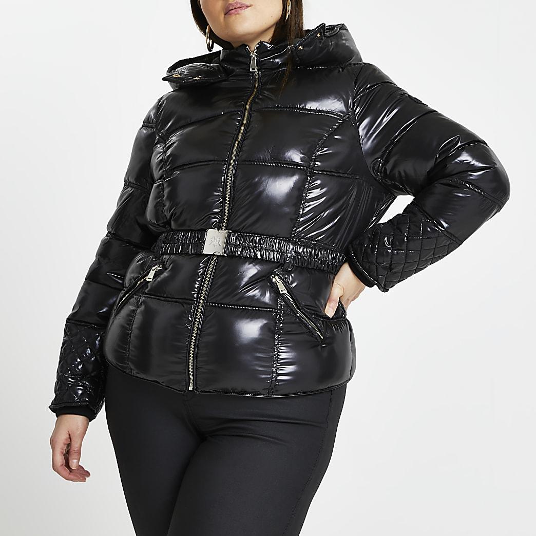 Plus black padded jacket