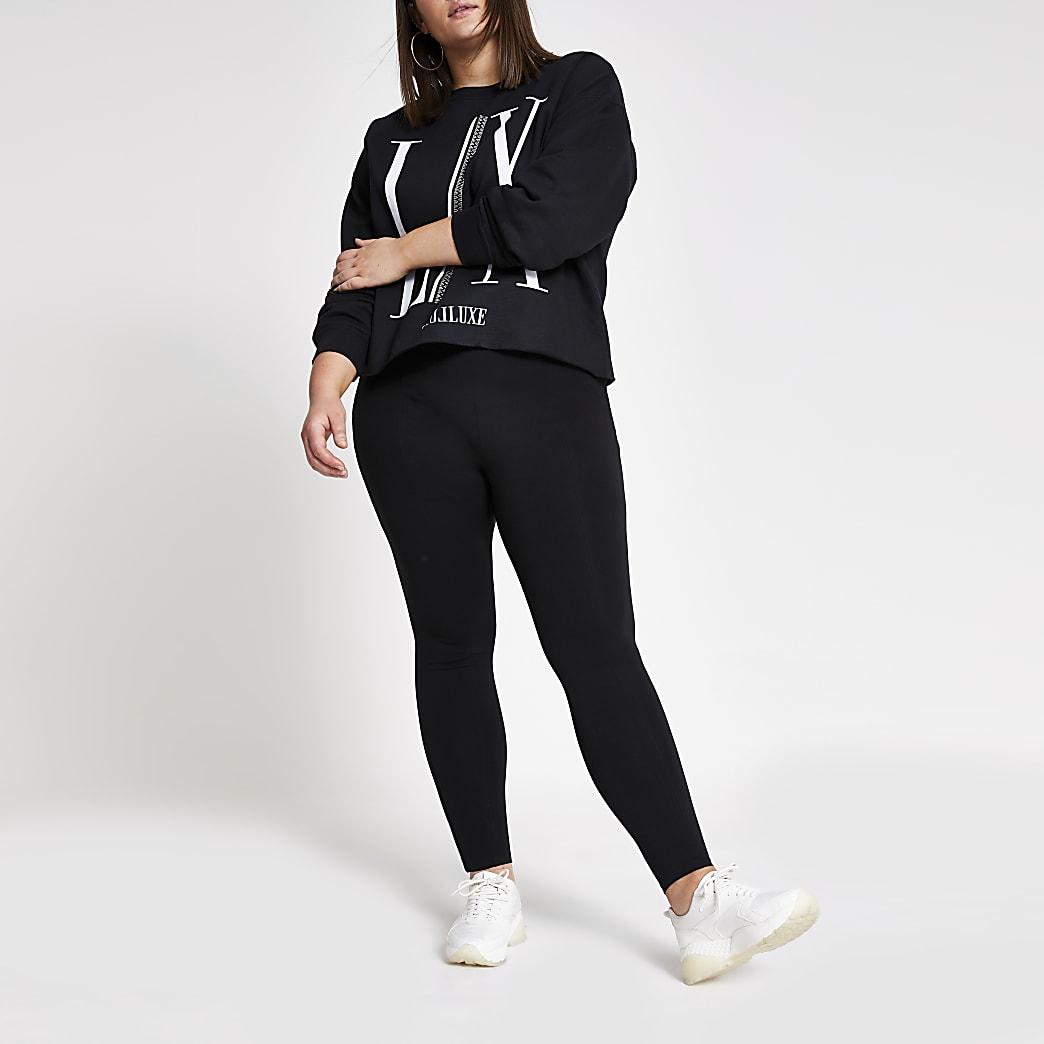 Plus black ponte leggings