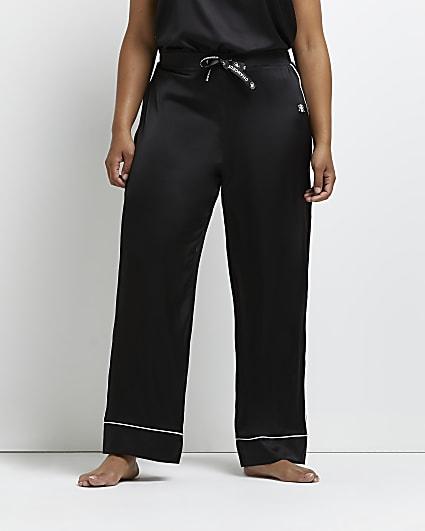 Plus black pyjama trousers