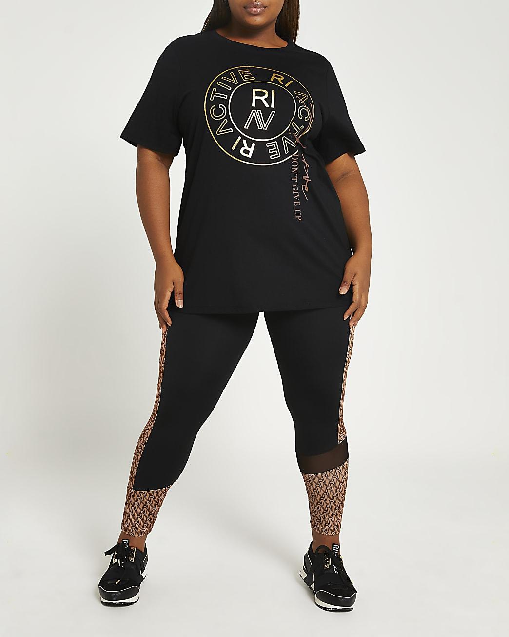 Plus black RI Active t-shirt