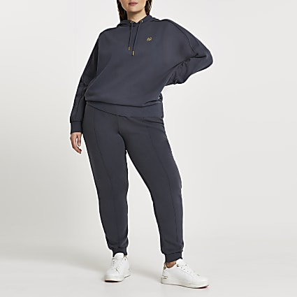 Plus Black Seam Detail Multibuy Jogger