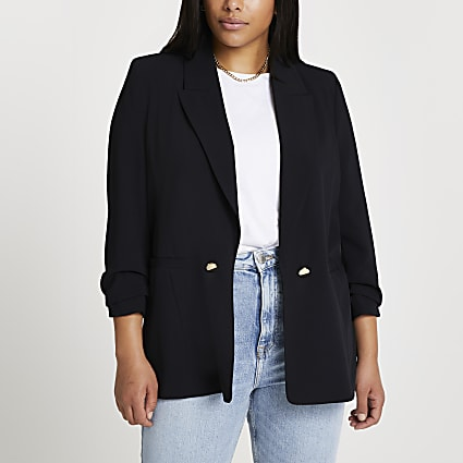 Plus black soft blazer