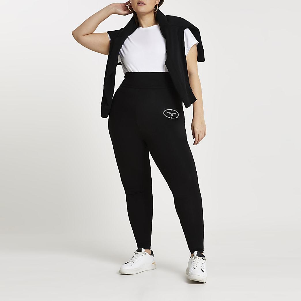 Plus Black super skinny fit leggings